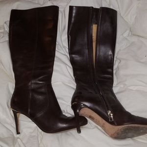 Brown COACH LEATHER BOOTS